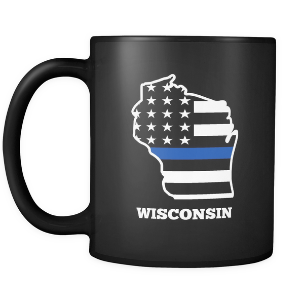 Thin Blue Line West Wisconsin Police Mug - Blue Angel Coffee