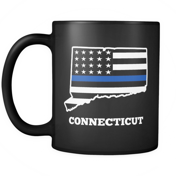 Thin Blue Line Connecticut Mug - Blue Angel Coffee