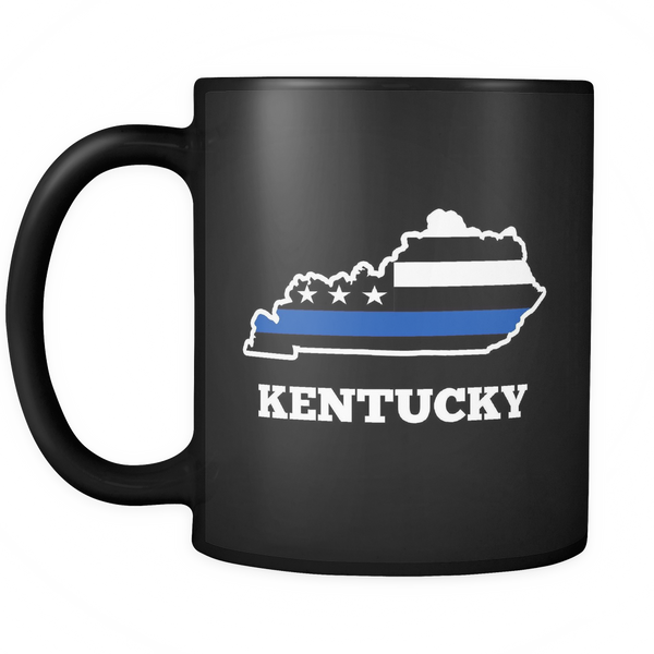Kentucky Thin Blue Line Coffee Mug - Blue Angel Coffee