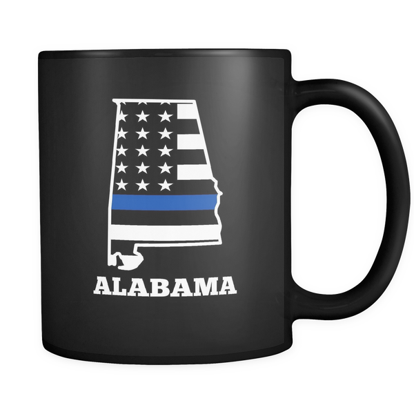 Thin Blue Line Alabama Police Mug - Blue Angel Coffee