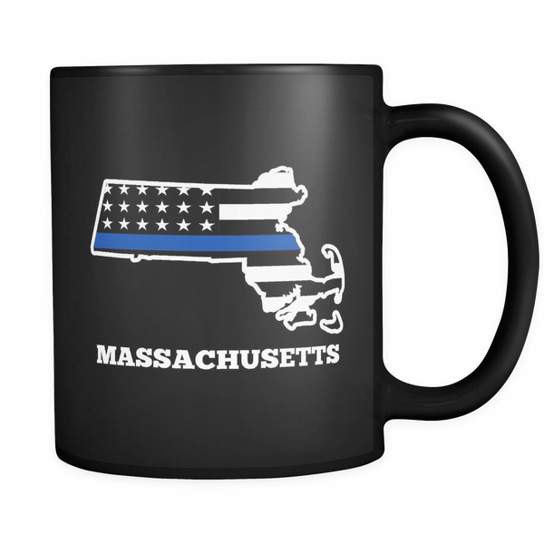 Massachusetts Police Officer Mug - Blue Angel Coffee