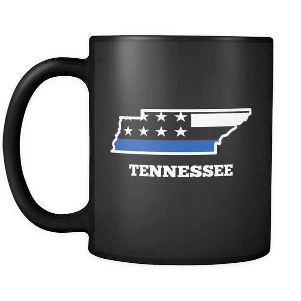 Tennessee Thin Blue Line Mug - Blue Angel Coffee