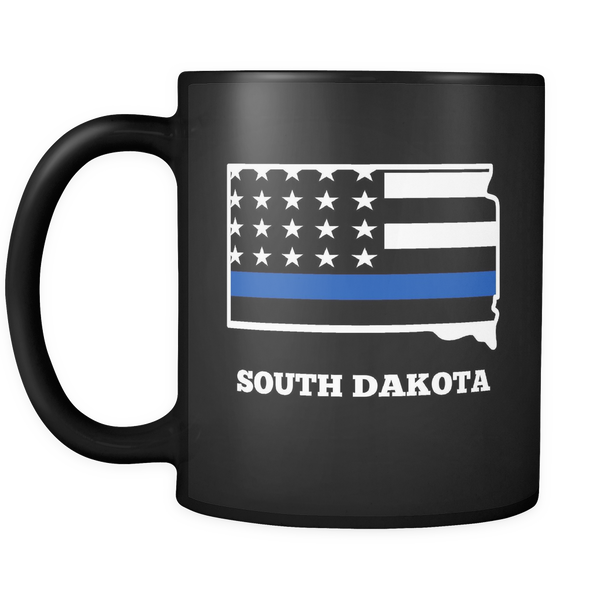 Thin Blue Line South Dakota Police Mug