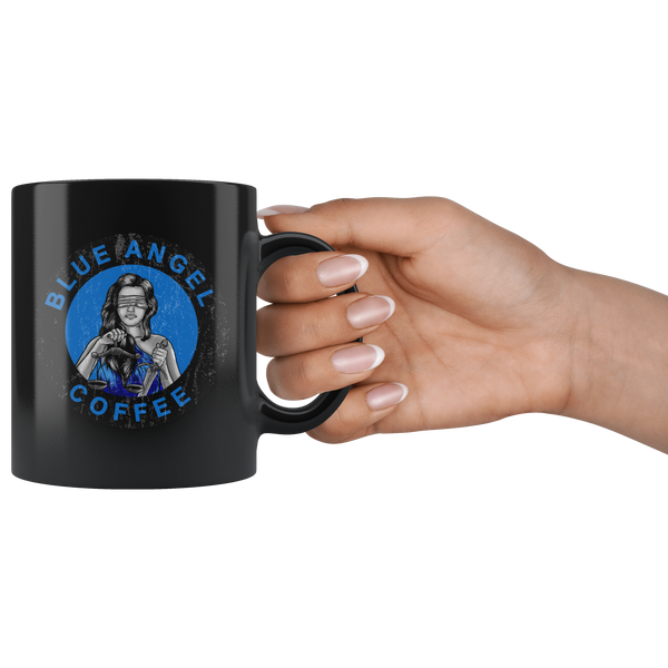 Lady Justice Coffee mug - Blue Angel Coffee