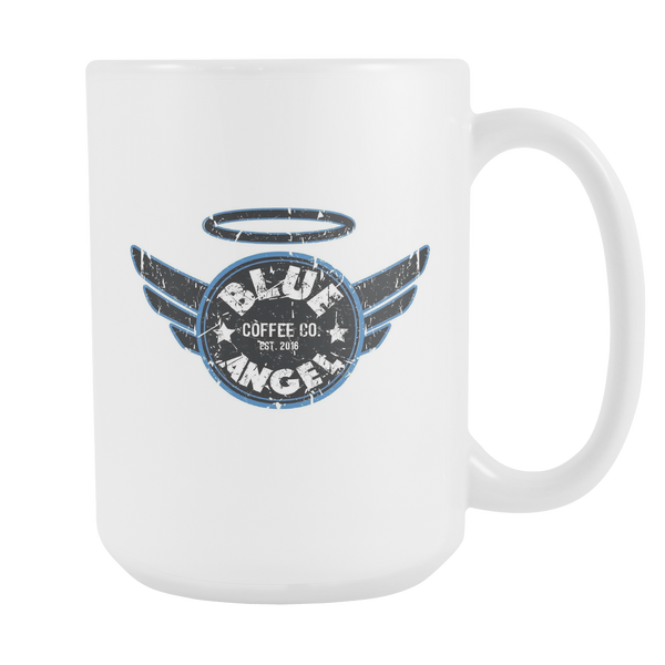 Blue Angel Coffee Logo Mugs 15oz - Blue Angel Coffee