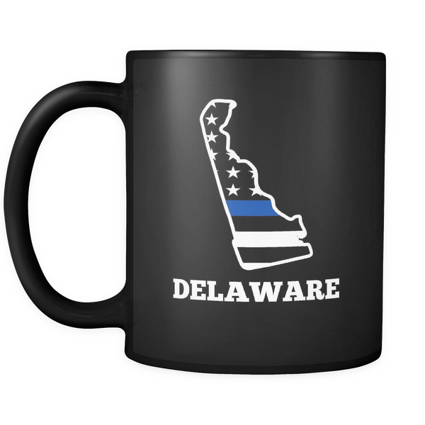 Thin Blue Line Delaware Police Mug - Blue Angel Coffee