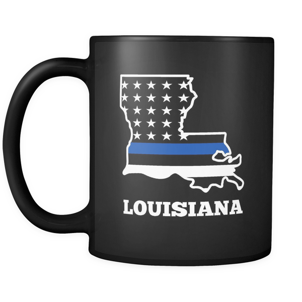 Thin Blue Line Louisiana Police Mug - Blue Angel Coffee