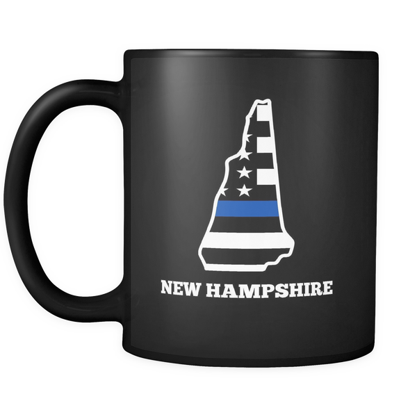 Thin Blue Line New Hampshire Police Mug - Blue Angel Coffee