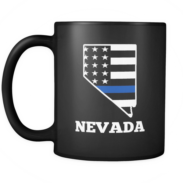 Nevada ThIn Blue Line Coffee Mug - Blue Angel Coffee