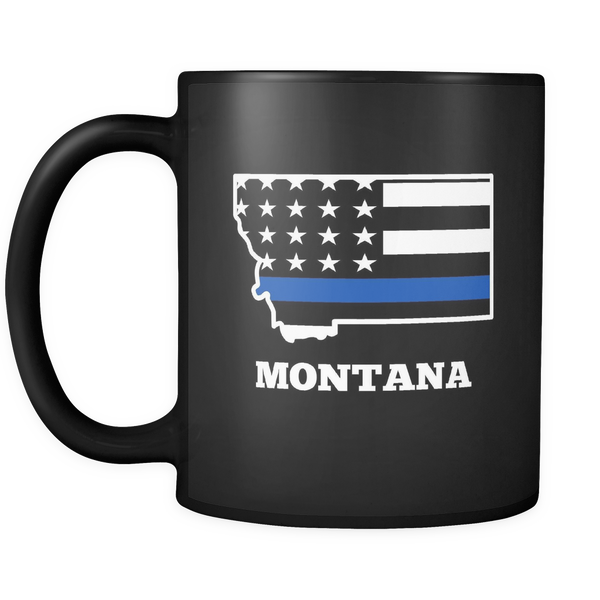 Thin Blue Line Montana Police Mug - Blue Angel Coffee