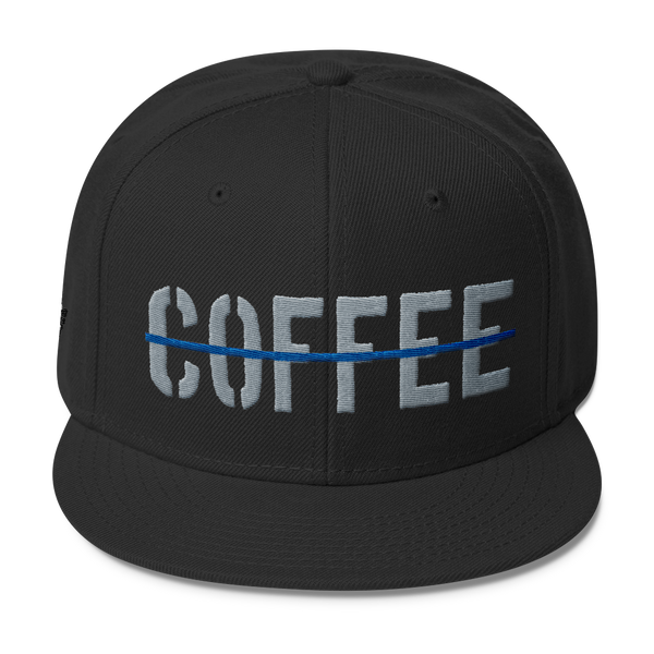 Thin Blue Line Coffee Wool Blend Snapback - Blue Angel Coffee