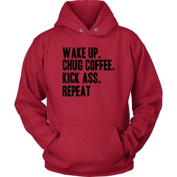 Wake Chug Coffee Sweater - Blue Angel Coffee