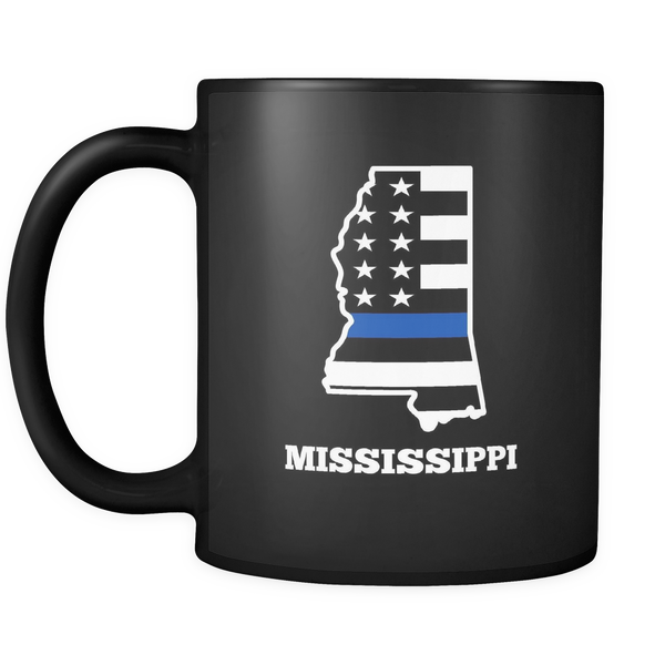 Thin Blue Line Mississippi Police Mug - Blue Angel Coffee