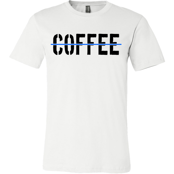 Thin Blue Line Coffee Shirt (2) - Blue Angel Coffee