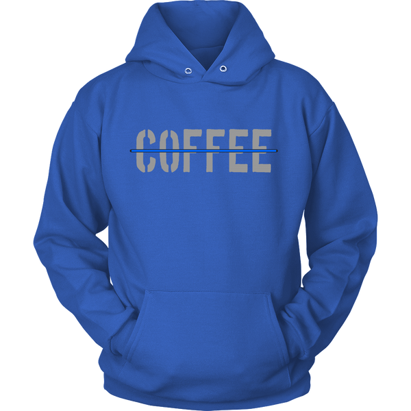 Thin Blue Line Coffee hoodie - Blue Angel Coffee