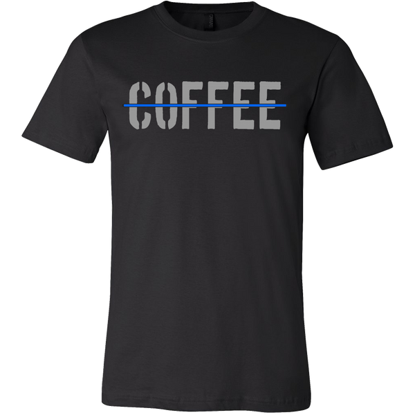 Thin Blue Line Coffee Shirt - Blue Angel Coffee
