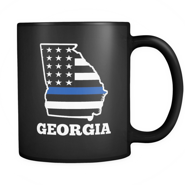 Georgia Thin Blue Line Mug - Blue Angel Coffee