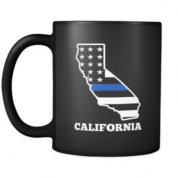California Thin Blue Line Coffee Mug - Blue Angel Coffee
