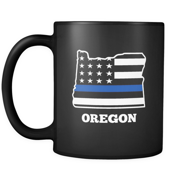 Thin Blue Line Oregon Police Mug