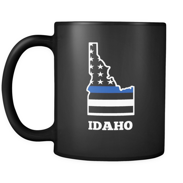 Thin Blue Line Idaho Police Mug - Blue Angel Coffee