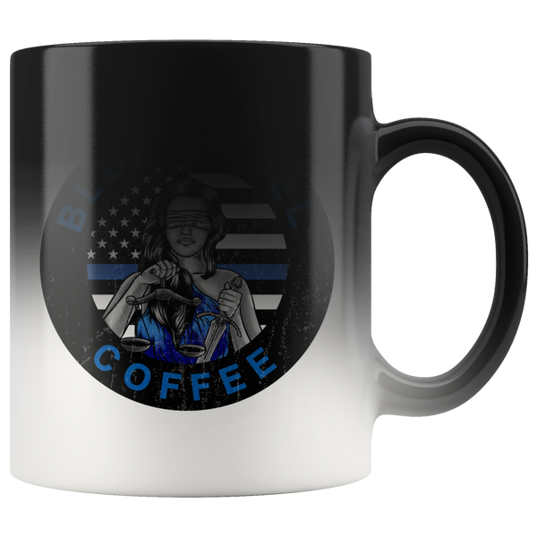 Lady Justice Thin Blue Line - Blue Angel Coffee