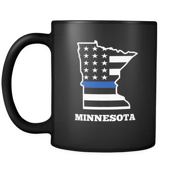 Thin Blue Line Minnesota Police Mug - Blue Angel Coffee