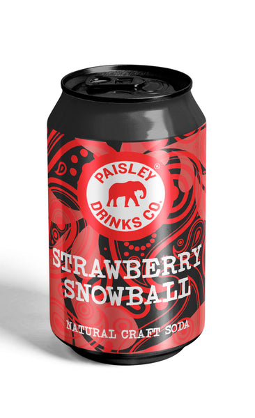 Strawberry Snowball Soda