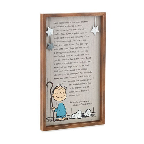Pre-Order Peanuts® Linus' Christmas Speech Wood Sign