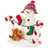 Stockings Hung With Care Snowman Musical Stuffed Animal With Light and Motion