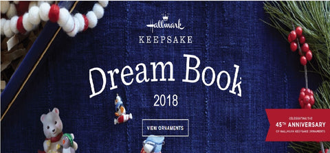 2018 Hallmark keepsake ornament dreambook - ria's hallmark jewelry and boutique