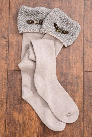 WB Bumble Boot Socks With Buckles - Ria's Hallmark & Jewelry Boutique - 1