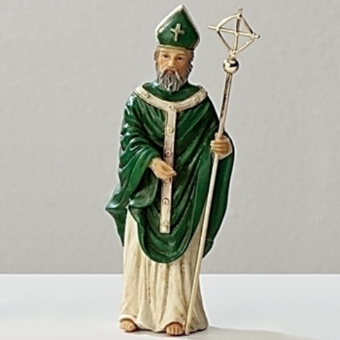 St. Patrick of Ireland 3.5 Inch Figurine by Roman Inc - Ria's Hallmark & Jewelry Boutique
