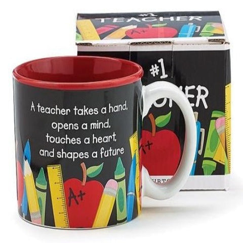 Burton & Burton #1 Teacher Ceramic Mug - Ria's Hallmark & Jewelry Boutique