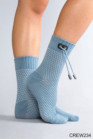 Simply Noelle Honeycomb Crew Socks