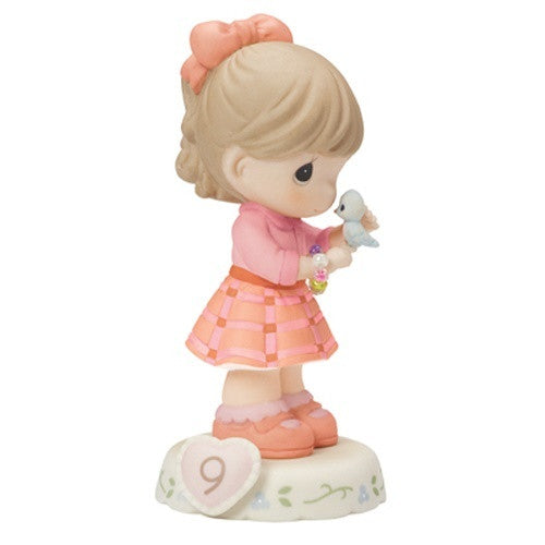 Precious Moments Growing In Grace Age 9 Brunette Girl Figurine - Ria's Hallmark & Jewelry Boutique