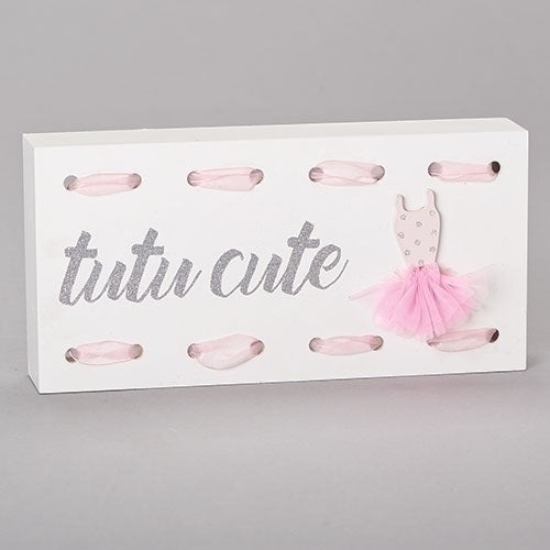 Tutu Cute Ballet Plaque