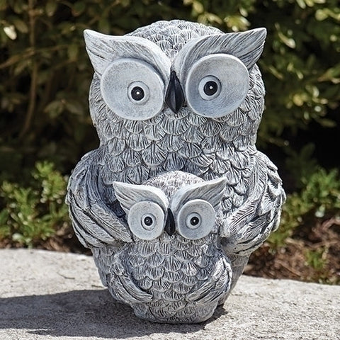 Roman Owl and Baby Garden Statue