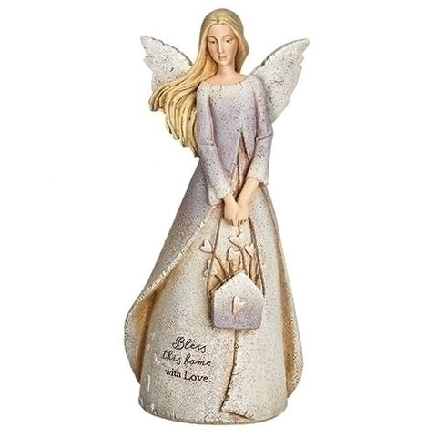 Roman Bless This Home Angel Figurine by Karen Hahn