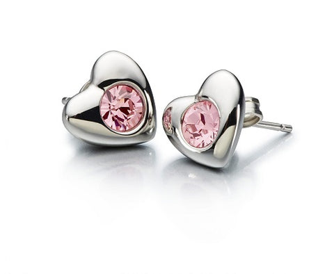 CHAMILIA Radiant Heart Pink Swarovski Earrings