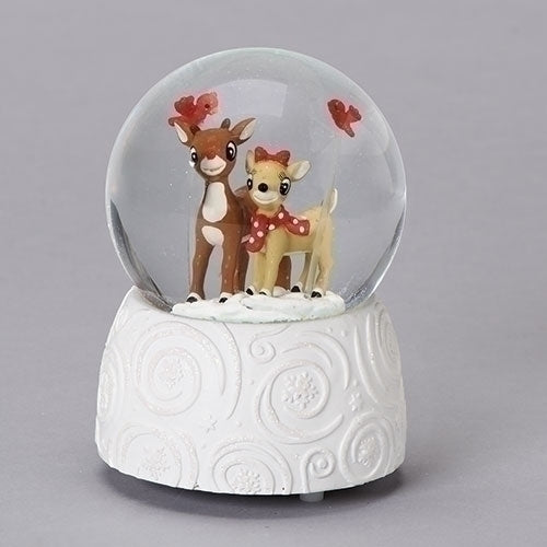 Roman Rudolph The Red-Nosed Reindeer Rudolph and Clarice Waterglobe