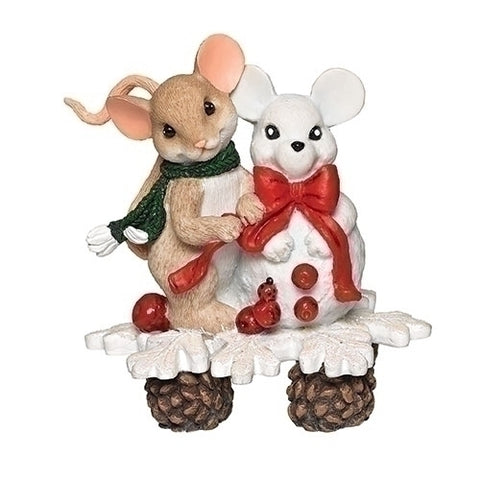 """Snow happy to share the journey with you"" Charming Tails Figurine by Dean Griff"