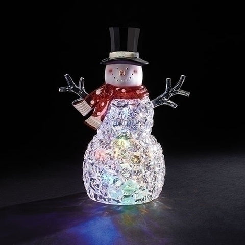 "12""H LED Snowman with Changing Color Lights"