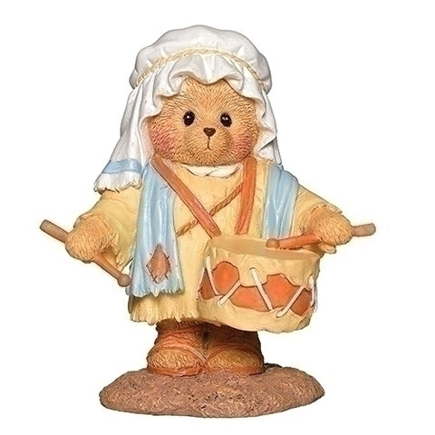 Cherished Teddies Drummer Boy Bear Figurine