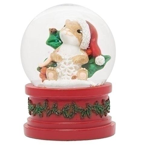 Charming Tails Make Your Christmas Sparkle Snow Globe