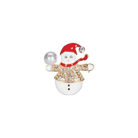 Roman Christmas Snowman with Snowball Pin