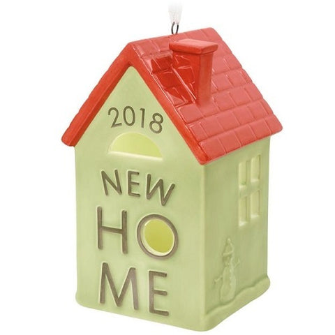 New Home 2018 Ceramic Ornament
