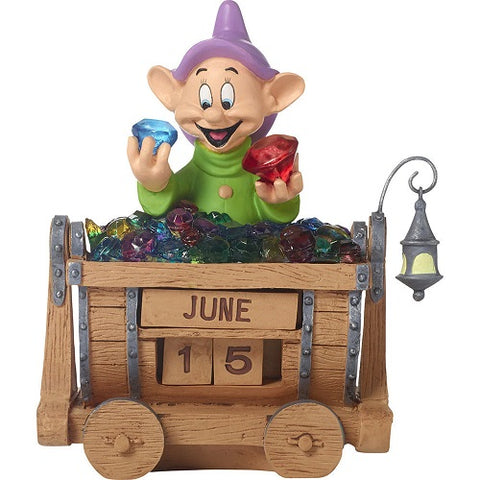 Disney Snow White Dopey Perpetual Calendar, Dopey's Brilliance, Resin
