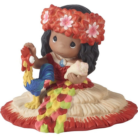 Disney Moana Figurine, How Far Will Your Dreams Take You, Bisque Porcelain