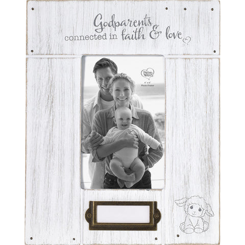 Godparents, Connected In Faith And Love Photo Frame