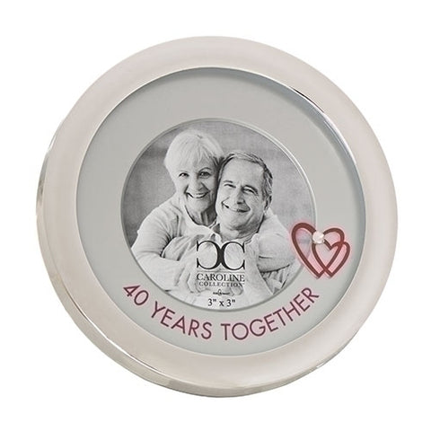 40 Years Together Round Frame from Caroline Collection